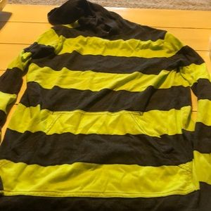 Tony Hawk hooded long sleeve tee with front pocket